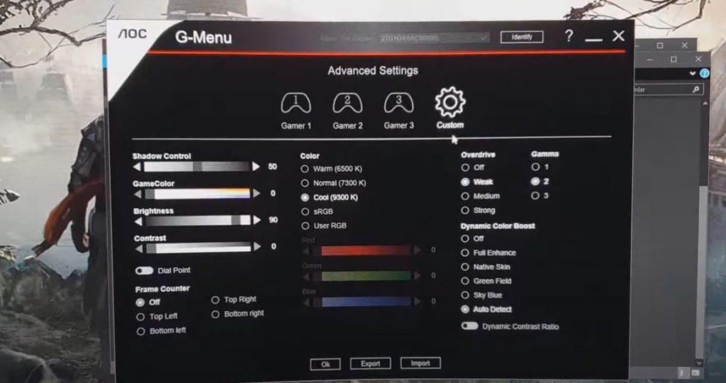 Overdrive settings